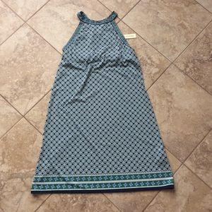 NEW Max Studio racerback dress size small 2 4 blue